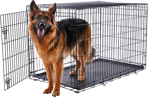 german shepherd crate